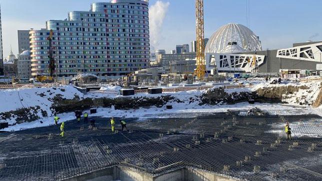Ростверки для будущей ледовой арены