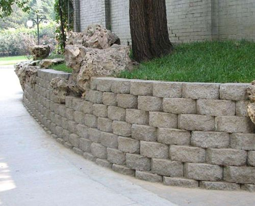 сооружение подпорных стен - декоративная подпорная стена