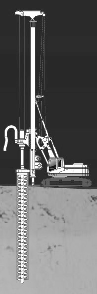 Устройство буронабивных свай с использованием обсадных труб